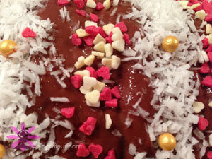 decor bûche noel vegan