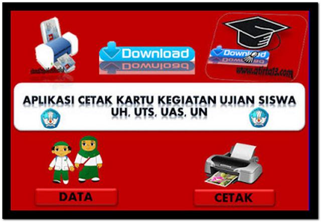 File Pendidikan Aplikasi Cetak Kartu Kegiatan Ujian Sekolah