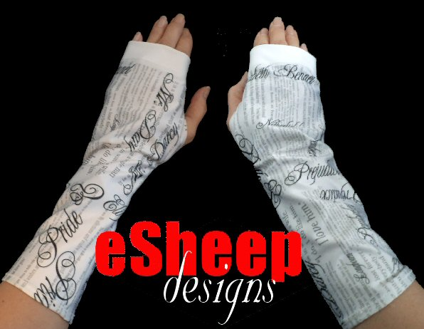 Pride & Prejudice Writing/Reading/Crafting Gloves by eSheep Designs