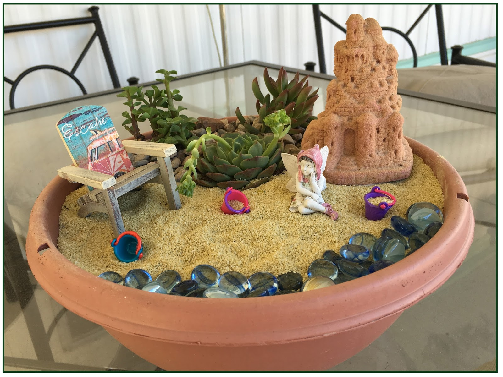 So We Had Fun The Other Day Creating An AZ Themed Beach Scene. Yes, There  Are Lakes Here With Beaches Midst The Desert Scenery!