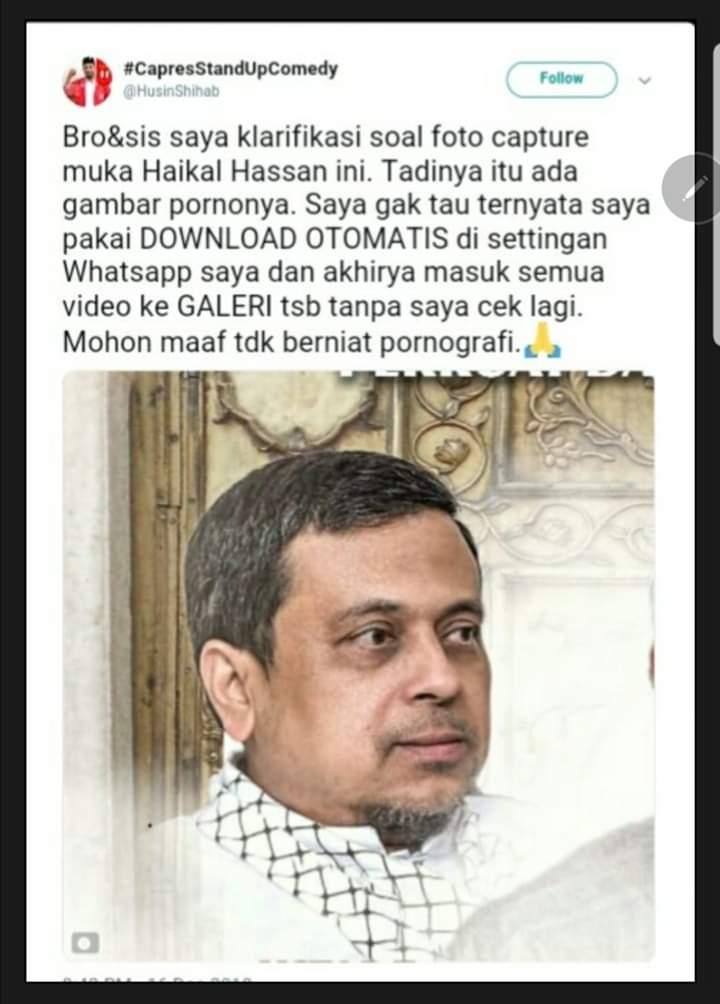Tertangkap Basah, Ini Pengakuan Naif Husin PSI yang Hina Ust Haikal Hassan