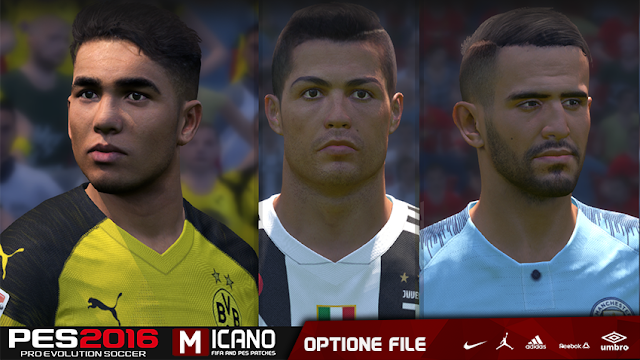 PES 2016 Latest Option File Summer Transfers 2018/2019