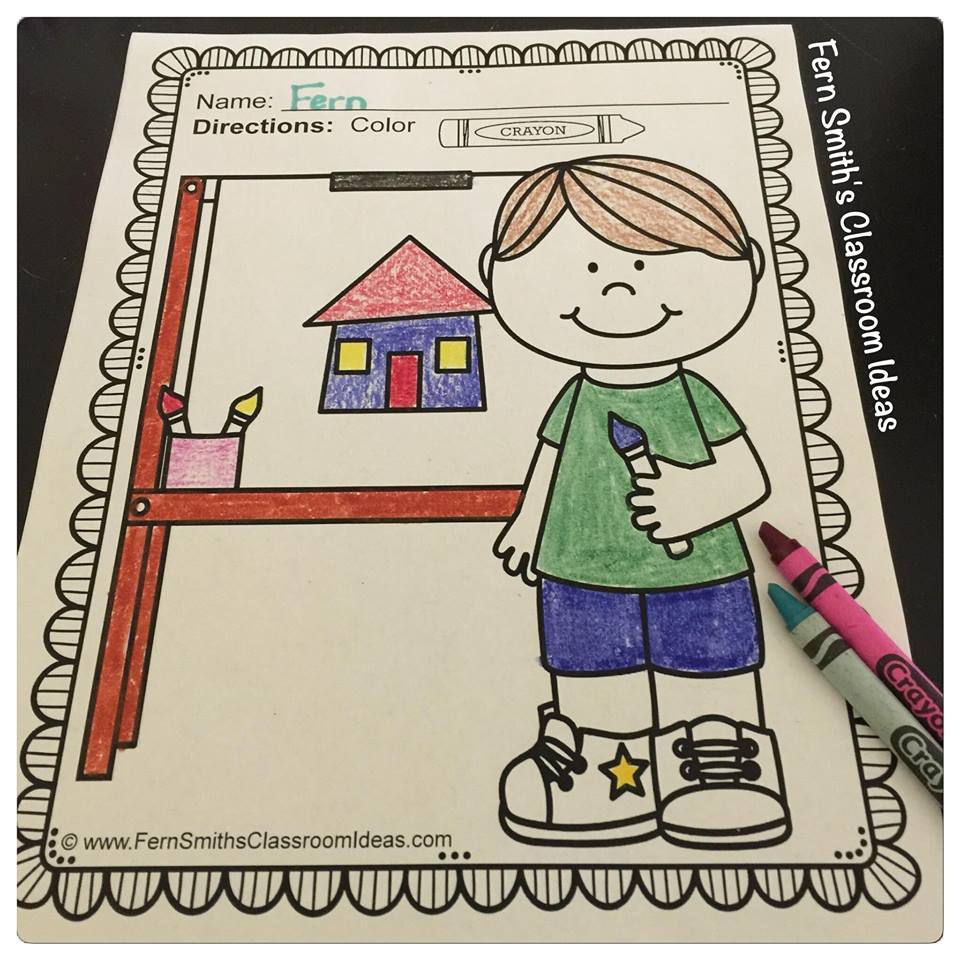 Five Reasons Elementary School Children Should Color For Fun! Fern Smith's Classroom Ideas' Fern Smith Guest Blogs at Jenny's Crayon Collection Blog.
