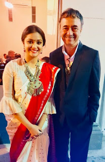Keerthy Suresh in Saree with Cute Smile at IFFMelb Equality in Cinema Award