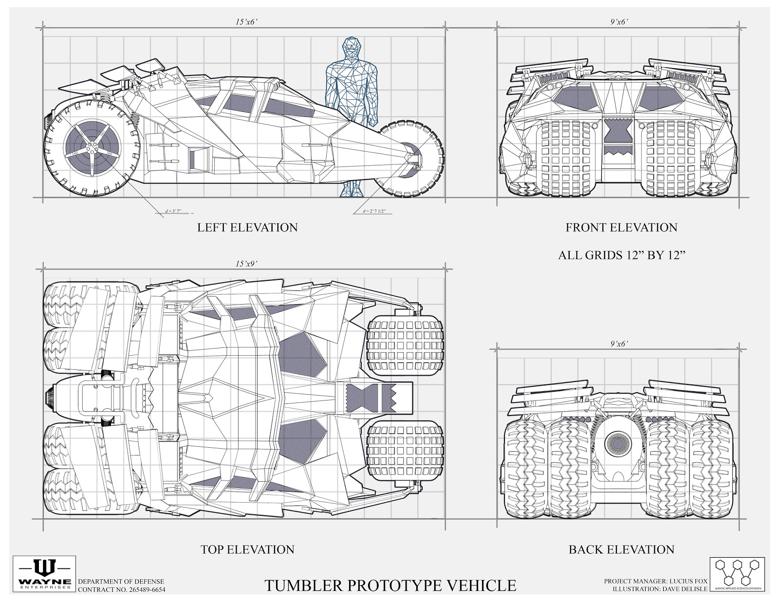 The Dork Review Rob S Room Batmobile Blueprints Amp Schematics Mostly