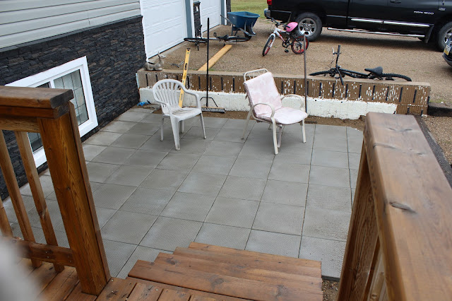 Patio off deck
