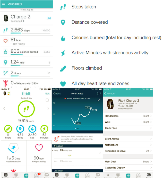 Fitbit Charge 2 Symbols Meaning Fitbit Manual