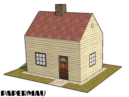 Papermau a simple house paper model by papermau for Build a 3d house online