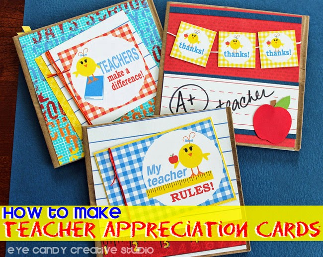 teacher cards, back to school, teacher gift, easy teacher gift idea, scrapbook