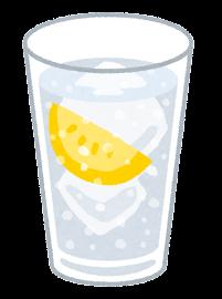 炭酸飲料のイラスト(レモン)