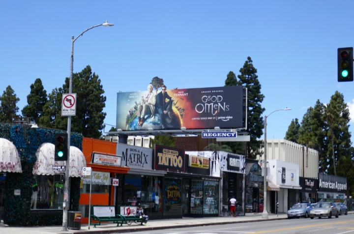 Good Omens TV billboard
