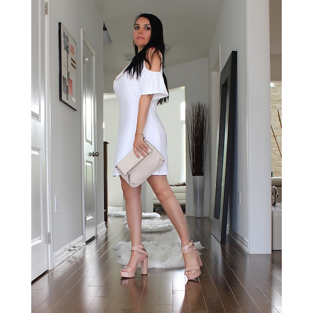 WHITE SUMMER DRESS, HIGH HEELS, TRENDY OUTFITS, SUMMER LOOKS, BEST BLOGGERS, FASHION ICON, ZARA DRESS, ZARA SHOES