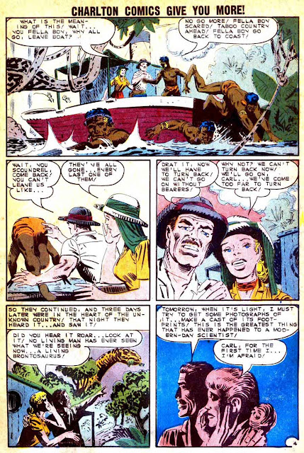 Gorgo v1 #15 charlton monster comic book page art by Steve Ditko