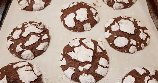 Chocolate Cinnamon Crinkle Cookies