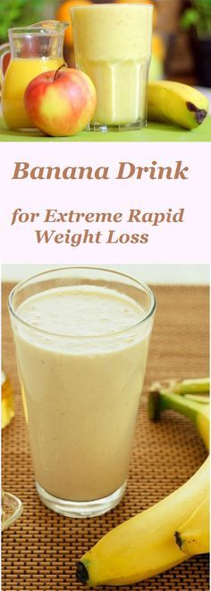 Banana Drink for Extreme Rapid Weight Loss #Banana #Drink #Extremeweightloss #Weightloss #Diet #Ketorecipe #Keto