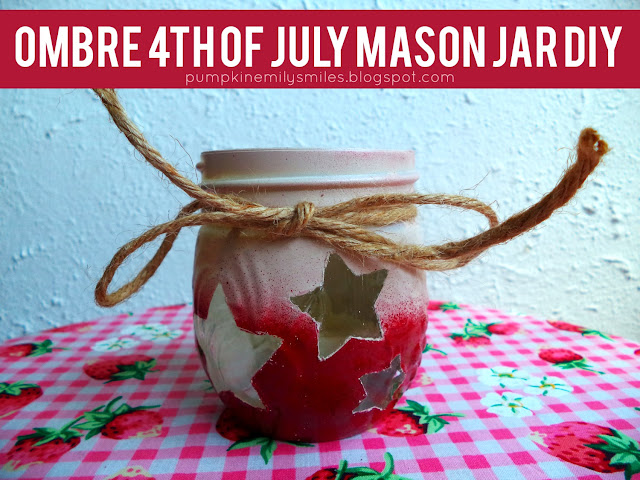 Ombre 4th of July Mason Jar DIY