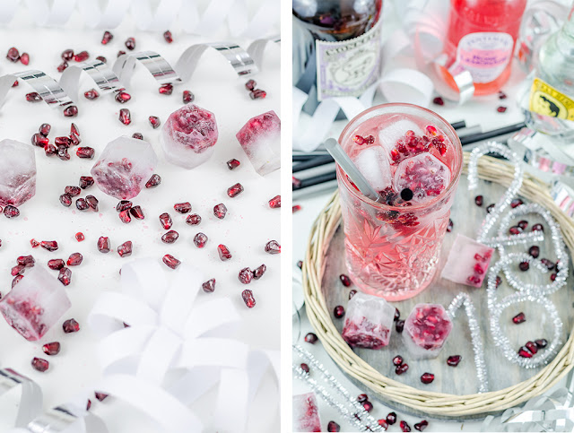 Pomegranate and Rose Gin Tonic