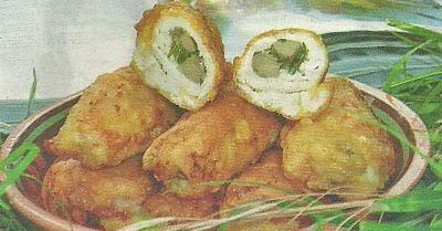 Состав продуктов и способ приготовления куриного рулета с грибами
