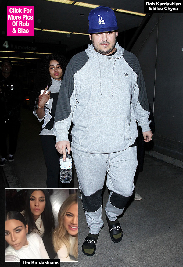 Rob Kardashian: Family Fears For His Life After He Splits From Blac Chyna & Piles On 50 Lbs.