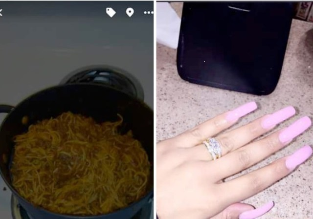 Lady Says She Made Her Boyfriend Propose To Her By Adding Her Period Blood To The Spaghetti She Cooked.