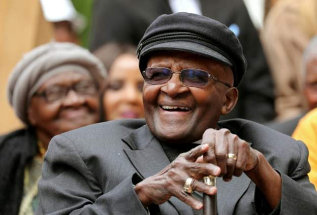 Tutu home from hospital in time to celebrate wife's birthday