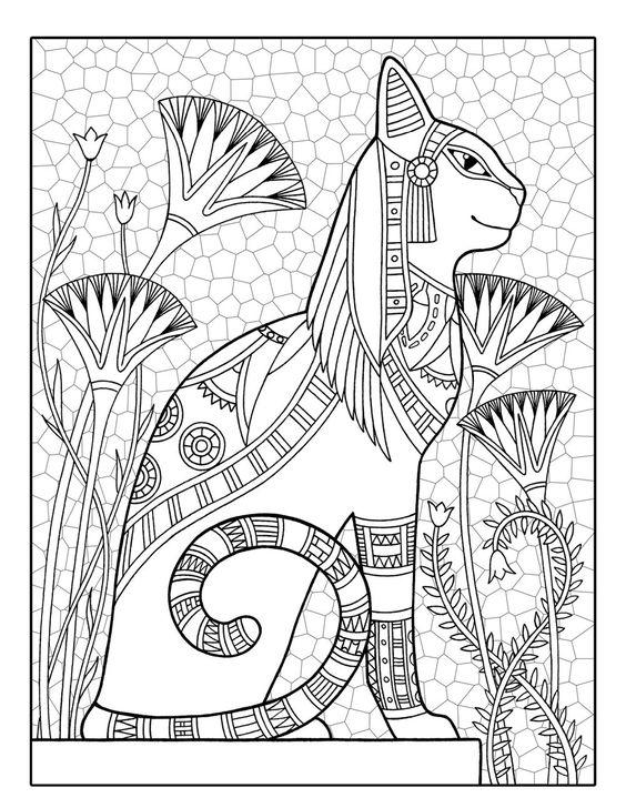 Coloriage Chat Volant.La Boite A Idees De L Atelier 3b Panneau Au Chat Egyptien
