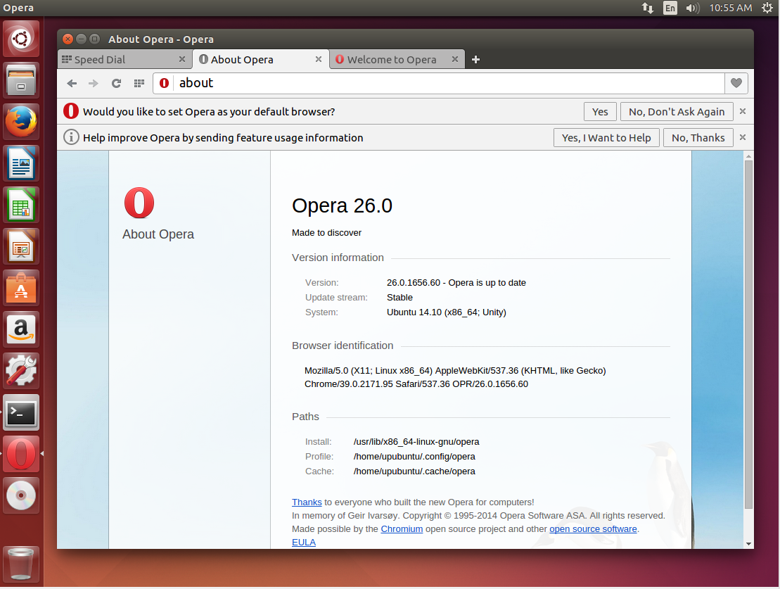 How To Install Opera 26/27/28 Under Ubuntu 14 10/Linux Mint 17 1