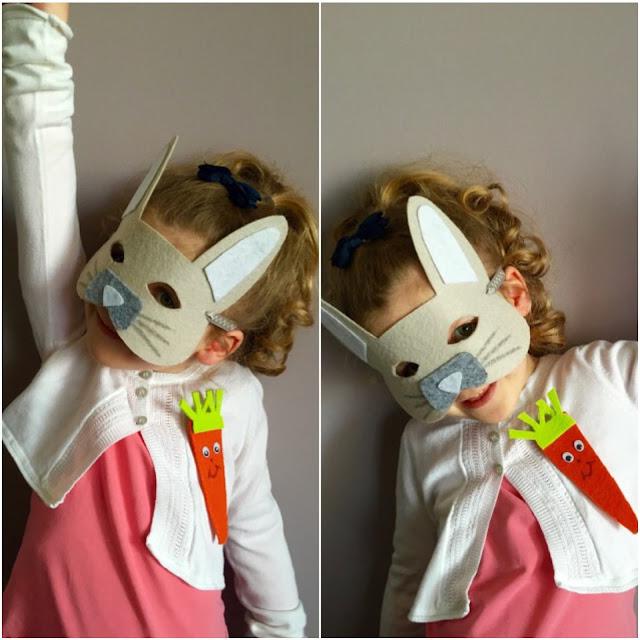 Masque lapin en feutrine