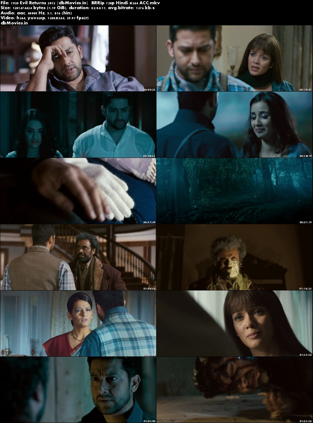Screen Shots 1920: Evil Returns 2012 Full Movie Download Hindi HD 720p
