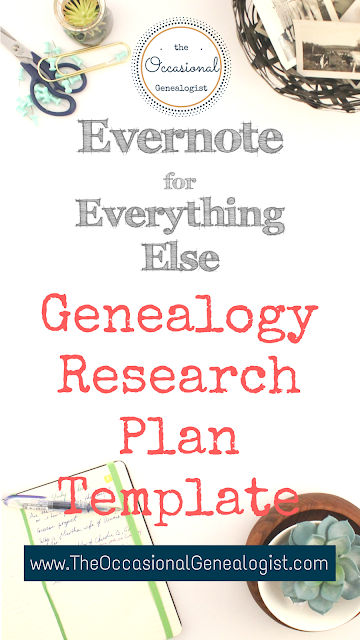 Genealogy analysis can take your research plan to the next level. It's easy to start with this Evernote template. | The Occasional Genealogist