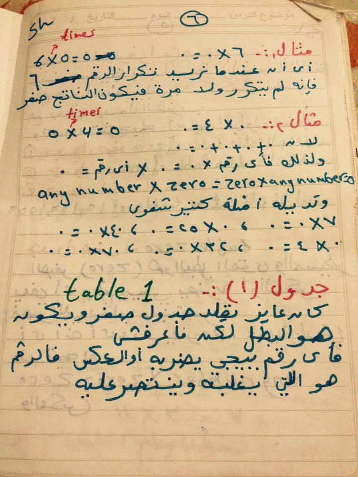 طريقة حفظ جدول الضرب بطريقة اللعب خلال الاجازة بالحساب والماث  6