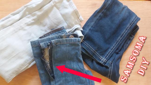 عندك سروال جينز ممزق وقديم ؟؟؟  اليك 4 افكار بسيطة لتجديده واعطائه لمستك الخاصة  / افكار لتزييين سراويل الجنز / افكار لتزييين سراويل الجنز / فكار لتجديد بنطلون الجينز / تحويل الملابس القديمة الى جديدة /  افكار بسيطة لاعادة استخدام الجينز القديم  / DIY   Recycling /  diy renew old jeans /  4 SIMPLE Ways to Revamp Old Jeans