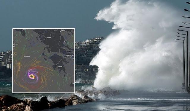 Si prevede che un ciclone tropicale colpisca la Grecia