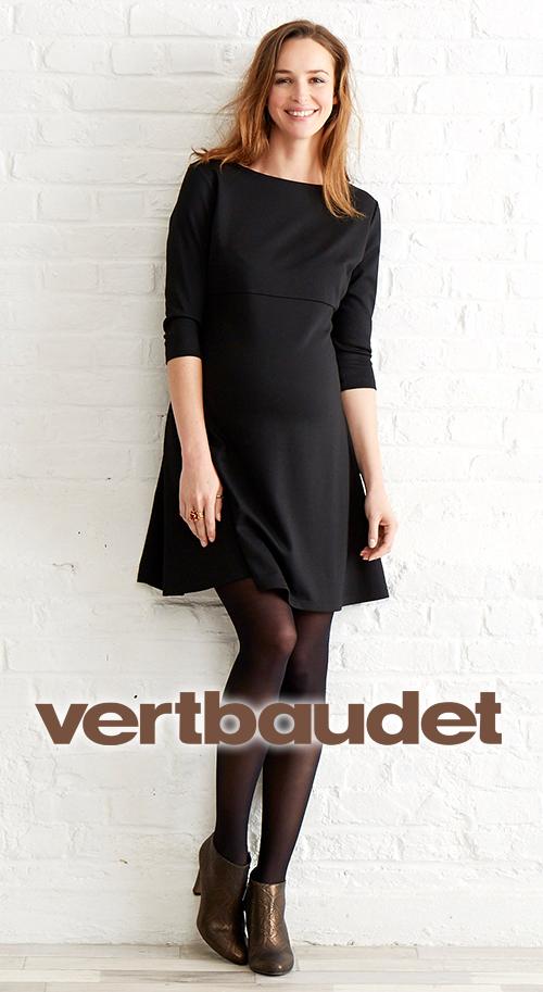 Robe de grossesse courte noire patineuse VERT BAUDET