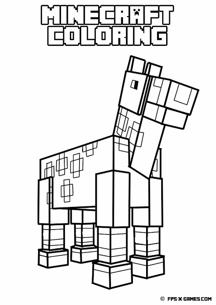 Coloring Pages Of Minecraft With Printable Minecraft Coloring Pages