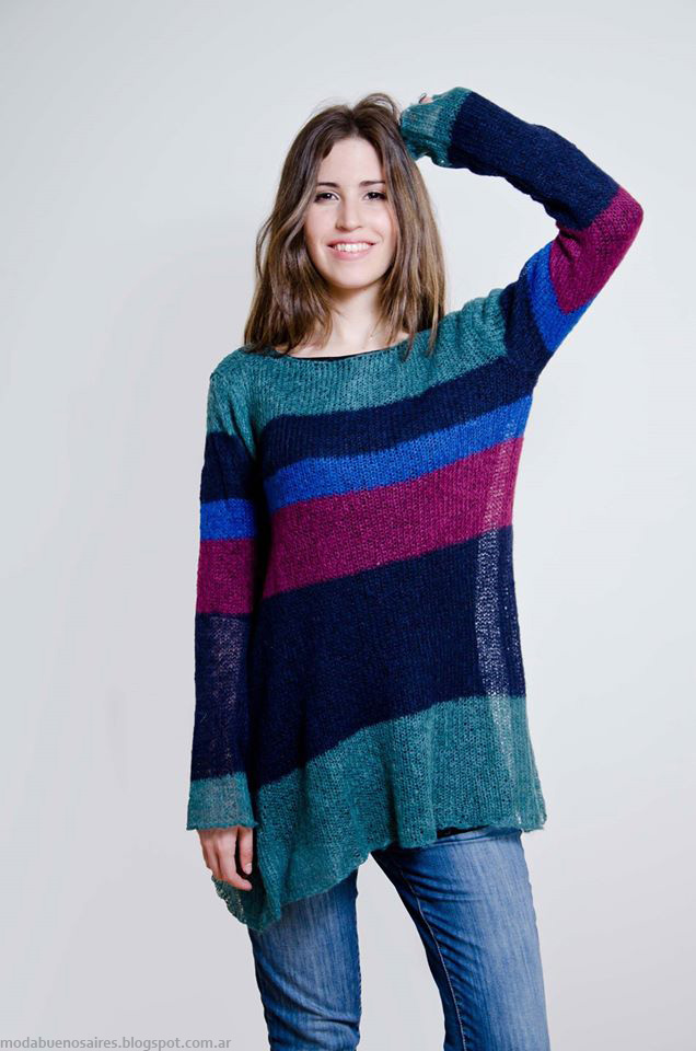 Sweaters otoño invierno 2016 Lares. Moda otoño invierno 2016 tejidos.