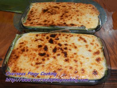 Baked Biko Sapin Sapin Style - Dish