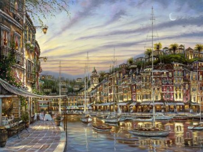 Романтические городские пейзажи. Robert Finale 9
