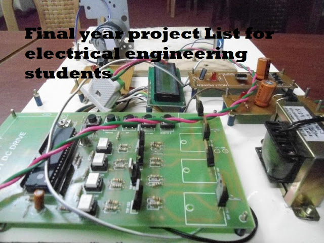 Final year project List for electrical engineering students