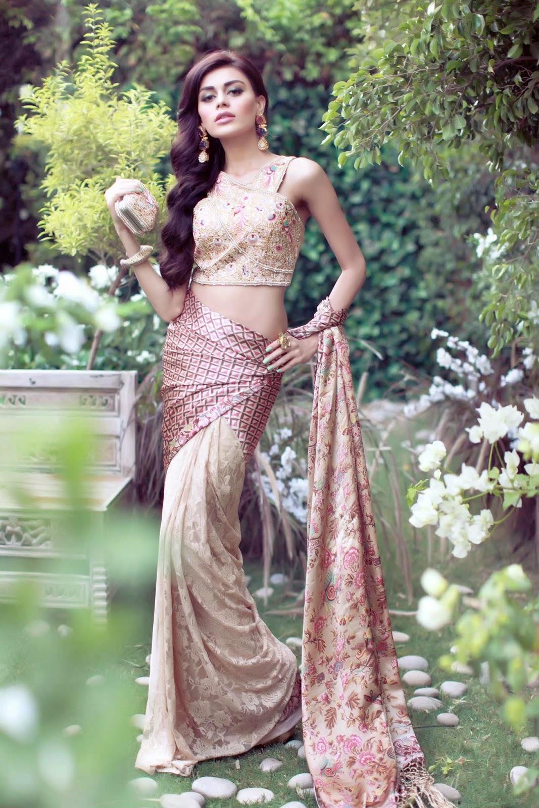 Pakistani Designer Sari by Shehla Chatoor