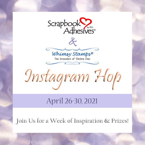 Scrapbook Adhesives by 3L & Whimsy Stamps Insta Hop