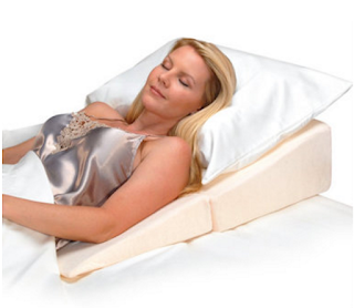 Using a bed wedge to reduce acid reflux