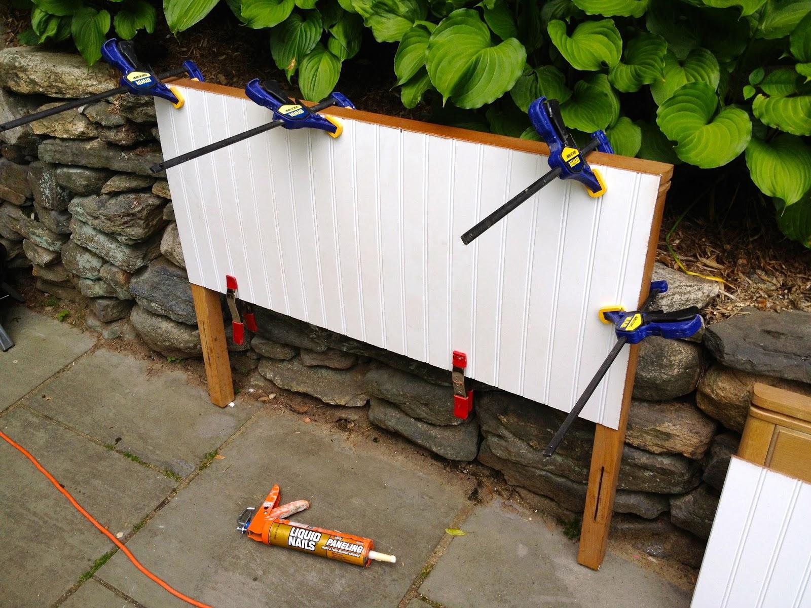 attach beadboard to headboard