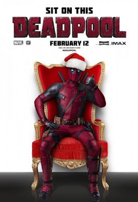 "Deadpool movie poster that says ""Sit On This"""