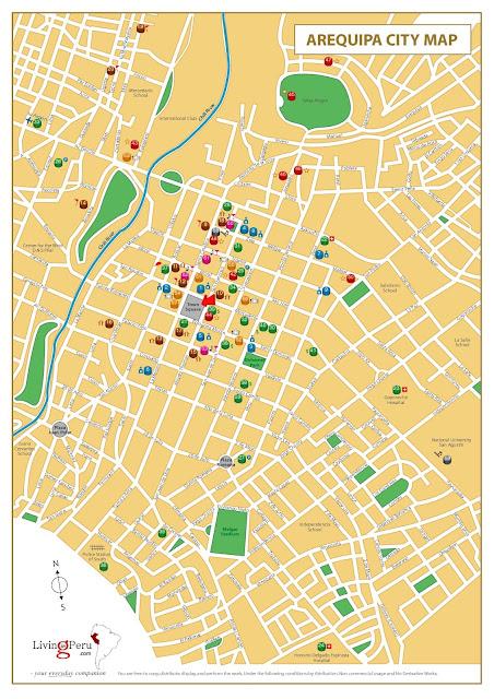 Mapa da cidade de Arequipa – Peru