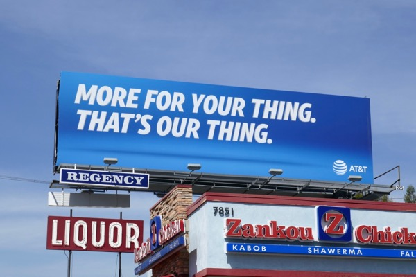 AT&T More for your thing billboard