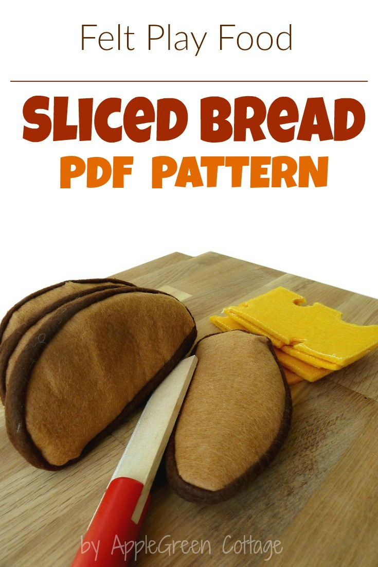 How to Make Felt Sliced Bread And Free Template