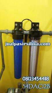 Housing filter 20 inch dengan 2 tahapan penyaringan