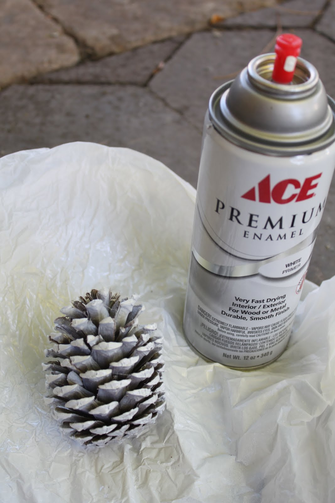 Diy Snow Pinecone Ornament