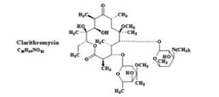 Klaritromisin merupakan antibiotik yang termasuk dalam golongan macrolide Klaritromisin